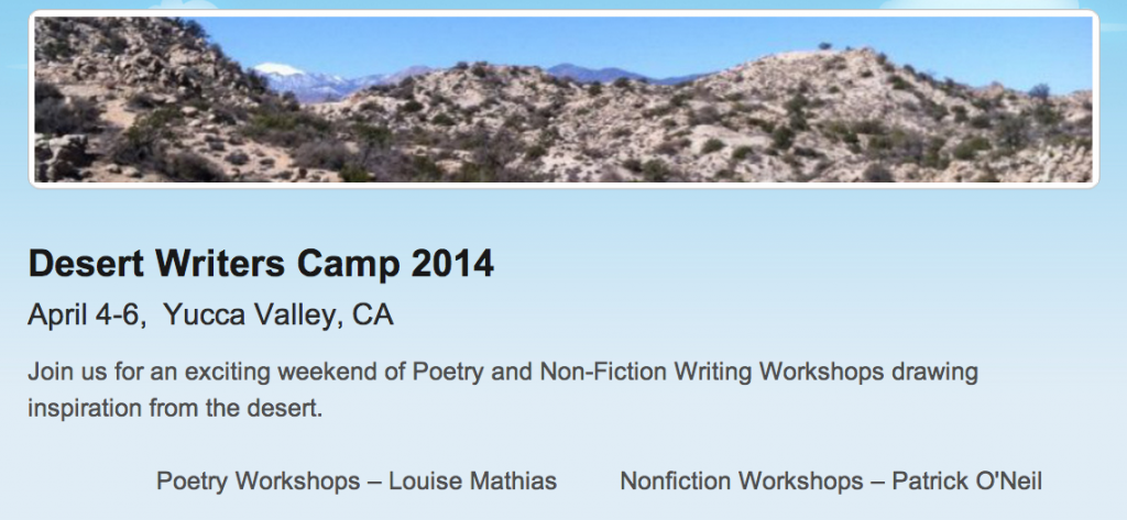 desert writers camp